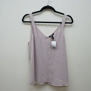 Forever 21 Chiffon Tank in Taupe in S